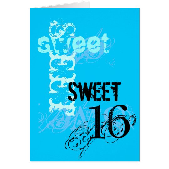 Sweet 16 Birthday Card