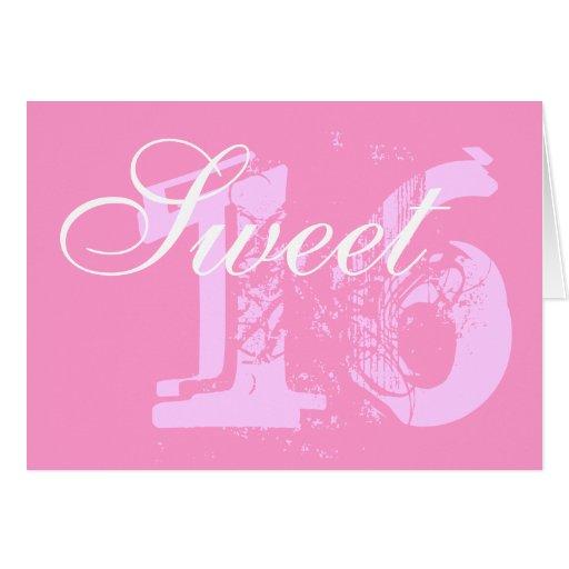 Sweet 16 birthday card greeting card