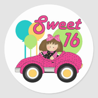 Sweet 16 Birthday Classic Round Sticker