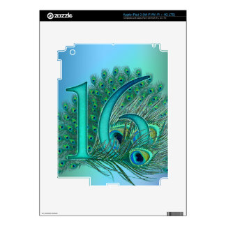 sweet 16 birthday decorated age number decal for iPad 3