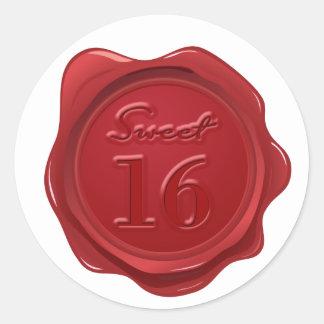 Sweet 16 Birthday Faux Wax Seal
