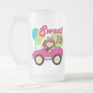 Sweet 16 Birthday Frosted Glass Beer Mug