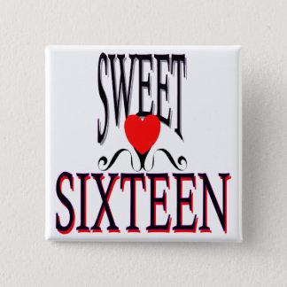 Sweet 16 Birthday Gear Button