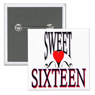 Sweet 16 Birthday Gear Pin