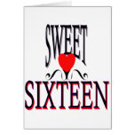 Sweet 16 Birthday Gear Greeting Card