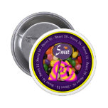 Sweet 16 Birthday Gear Pinback Buttons