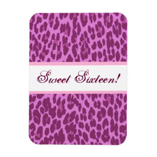 Sweet 16 Birthday Girly Pink Leopard A10 Magnet