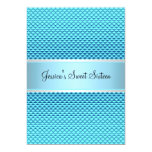 Sweet 16 Birthday Glam Blue Glitter Party 5x7 Paper Invitation Card