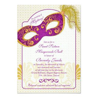 Sweet 16 Birthday Invitation   Masquerade Ball