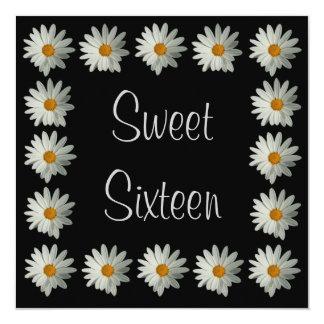Sweet 16 Birthday Invitations - Daisy Flower