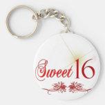 Sweet 16 Birthday Key Chains