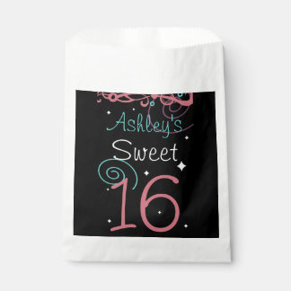 Sweet 16 Birthday Party Favor Bag