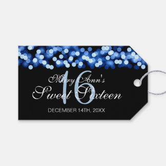 Sweet 16 Birthday Party Hollywood Glam Blue Gift Tags