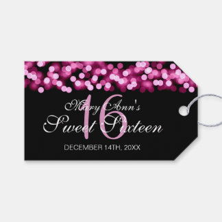 Sweet 16 Birthday Party Hollywood Glam Pink Gift Tags