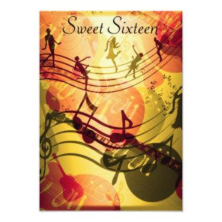 Sweet 16 Birthday Party Invitation Music