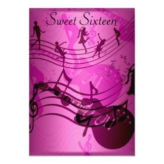 Sweet 16 Birthday Party Invitation Music Custom Announcement