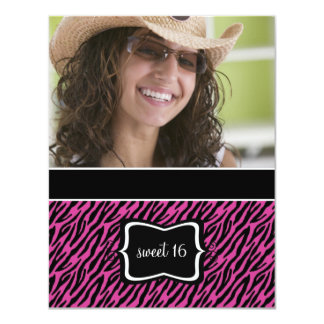 Sweet 16 Birthday Party Invitations {Zebra Print}