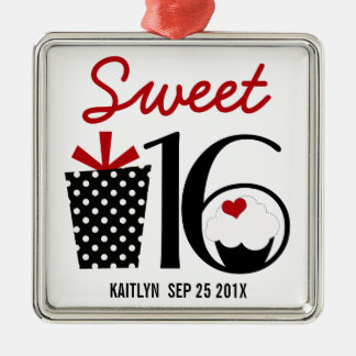 Sweet 16 Birthday personalized Keepsake Metal Ornament