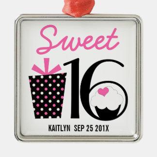 Sweet 16 Birthday personalized Keepsake Metal Ornament