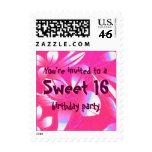 Sweet 16 Birthday Pink Hawaiian Postage