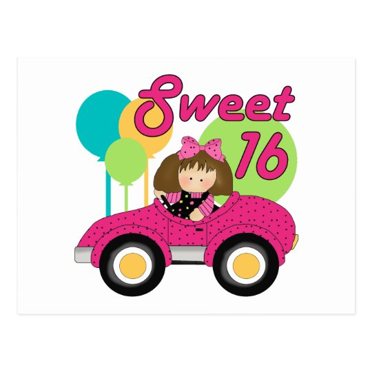 Sweet 16 Birthday Postcard