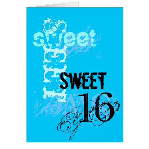 Sweet 16 Birthday Stationery Note Card