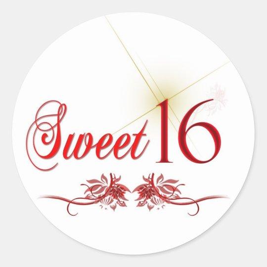 Sweet 16 birthday stickers