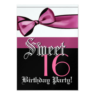 Sweet 16 Birthday Template - Pink Bow