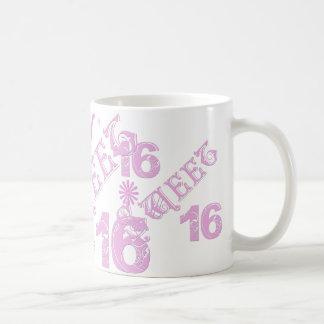 Sweet 16 Birthday With Crown Coffee Mug
