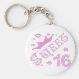 Sweet 16 Birthday With Crown Keychain