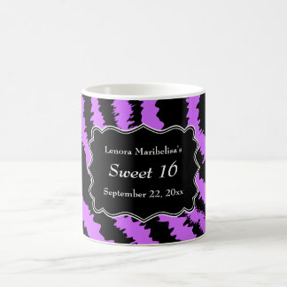 Sweet 16 Black and Purple Zebra Pattern Coffee Mug