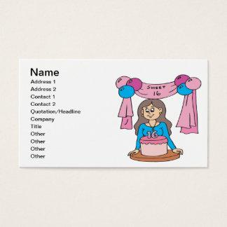 Sweet 16 business card