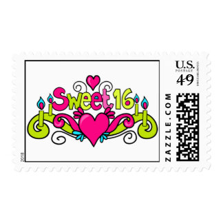 sweet 16 candy color postage