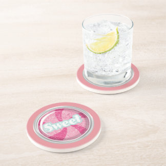 Sweet 16 Candy Design Party Coasters