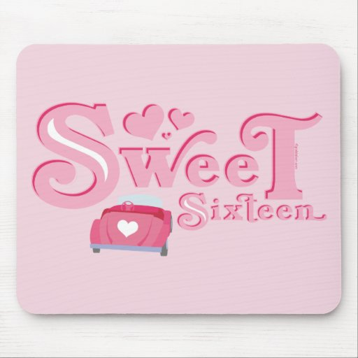 Sweet 16 Car Heart Mouse Pad
