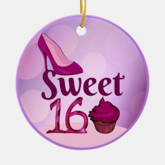 Sweet 16 ceramic ornament
