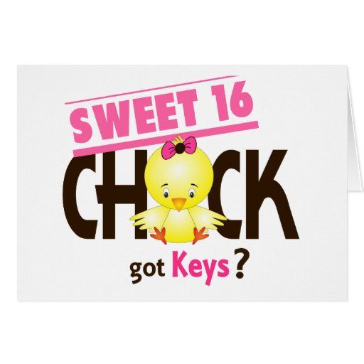 Sweet 16 Chick 1 Card