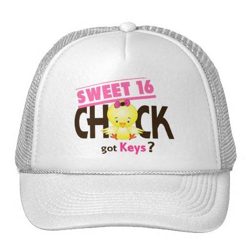 Sweet 16 Chick 1 Mesh Hats