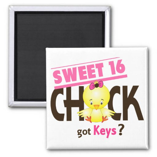 Sweet 16 Chick 1 Refrigerator Magnets
