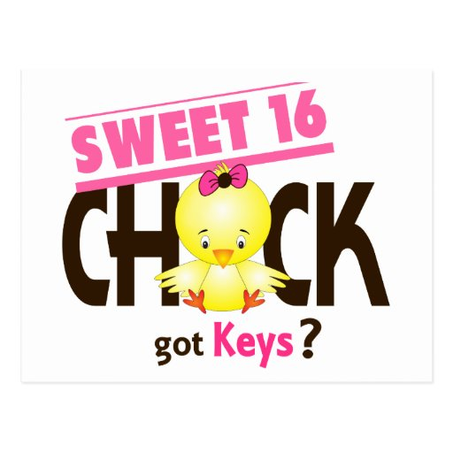 Sweet 16 Chick 1 Postcards