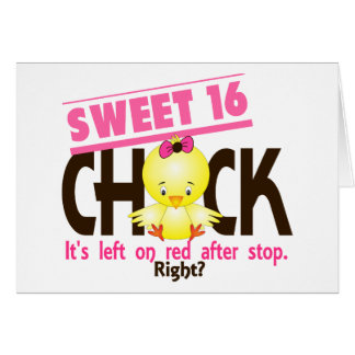 Sweet 16 Chick 2 Card