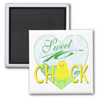 Sweet 16 Chick 2 Inch Square Magnet