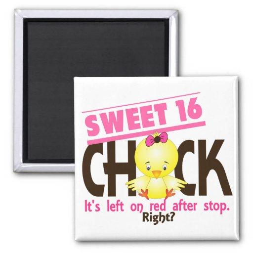 Sweet 16 Chick 2 Fridge Magnet