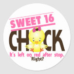 Sweet 16 Chick 2 Stickers