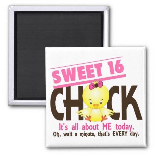 Sweet 16 Chick 3 Fridge Magnets