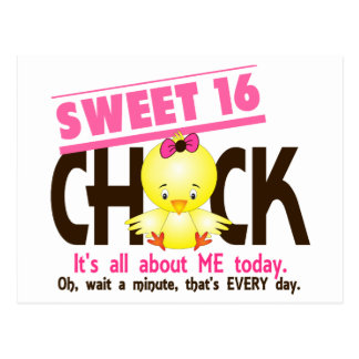Sweet 16 Chick 3 Postcard