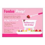 Sweet 16 Chocolate Fondue Birthday Party 4.5x6.25 Paper Invitation Card