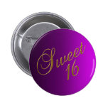 Sweet 16 Club Button purple Button