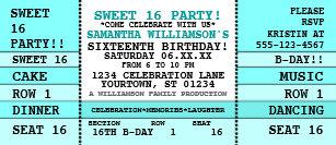 concert ticket invitations zazzle