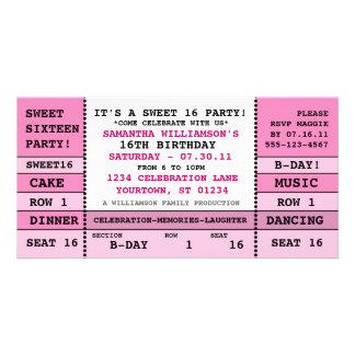 Sweet 16 Concert Ticket Invitation Photo Card
